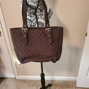 Vera Bradley Brown Tote Purse